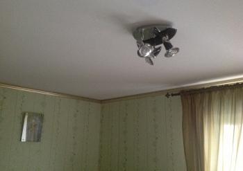 Фото натяжных потолков №Натяжной потолок, белый, матовый в спальне