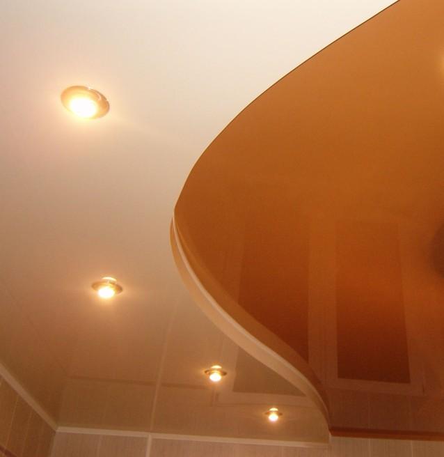 Фото натяжных потолков №оранжевый натяжной потолок