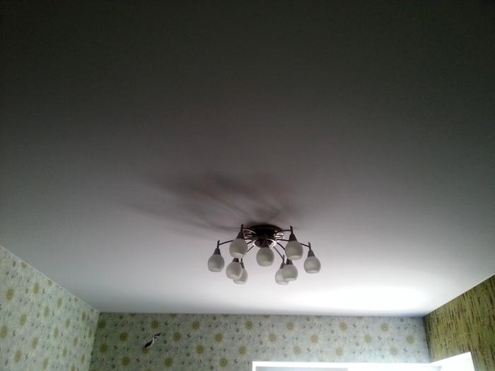 Фото натяжных потолков №Белый матовый потолок г. Реутов