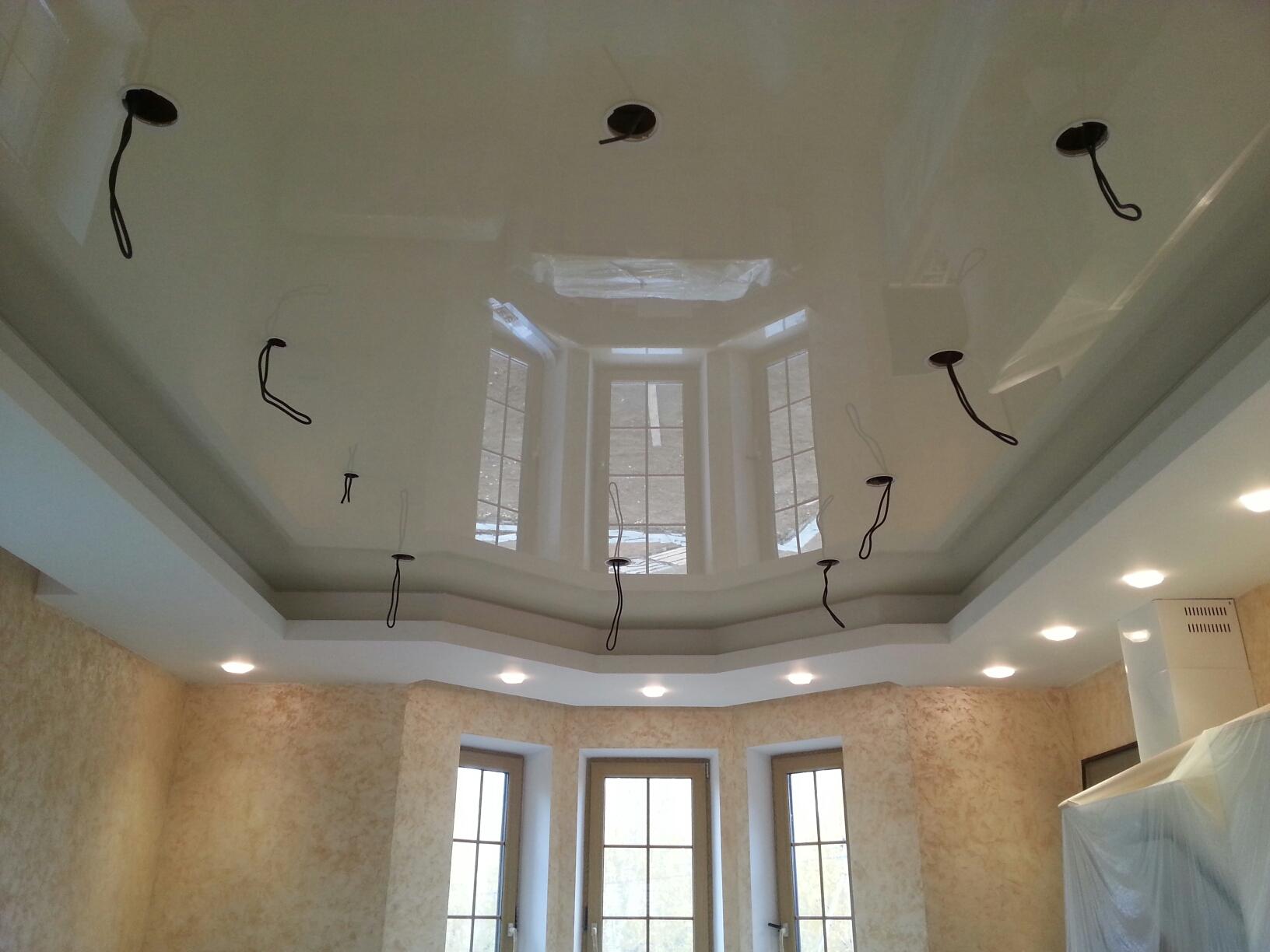 Натяжной потолок в доме фото 383